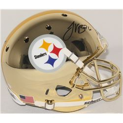 Le'Veon Bell Signed Steelers Custom Gold Chrome Full-Size Helmet (JSA COA)