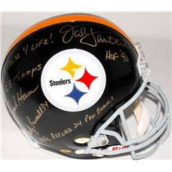 Jack Ham, Jack Lambert & Andy Russell Signed Steelers Full-Size Helmet with (4) Inscriptions (JSA CO