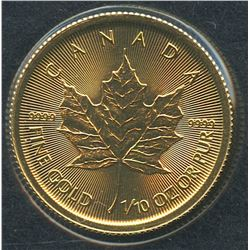 2016 1/10 oz Gold Maple Leaf $5 Coin