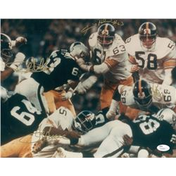 "Multi-Signed ""The Steel Curtain"" Steelers 11x14 Photo Signed by (4) with Joe Greene, L.C. Greenwood,"