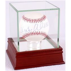Hank Aaron Signed OML Baseball with High Quality Display Case (Steiner COA)