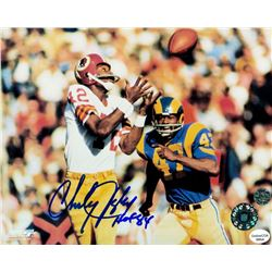 "Charley Taylor Signed Redskins 8x10 Photo Inscribed ""HOF 84"" (Legends COA)"