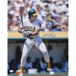"Jose Canseco Signed Athletics 16x20 Photo Inscribed ""40/40"" (JSA COA)"