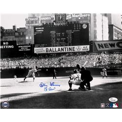 Yogi Berra & Don Larsen Dual Signed Yankees 1956 World Series Perfect Game 11x14 Photo (JSA COA)