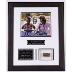 "Ari Lehman Signed ""Jason"" Friday The 13th Custom Custom Framed 17"" x 21"" Display with Authentic Piec"