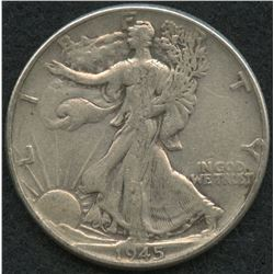 1945 Walking Liberty Silver Half Dollar