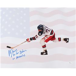 "Mike Eruzione Signed Team USA ""Miracle on Ice"" 16x20 Photo Inscribed ""Do You Believe In Miracles"" (J"