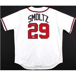 "John Smoltz Signed Braves Jersey Inscribed ""96 CY"" (JSA COA)"