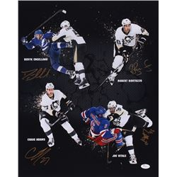 Deryk Engelland, Robert Bortuzzo, Craig Adams & Joe Vitale Signed Penguins 16x20 Photo (JSA Hologram