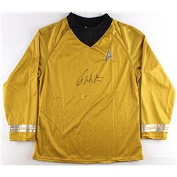 "William Shatner Signed Star Trek ""Captain James T. Kirk"" Prop Replica Uniform Shirt (JSA ALOA) (Impe"