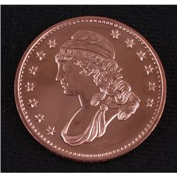 Capped Bust Half Dollar 1 AVDP Oz. Fine Copper Round