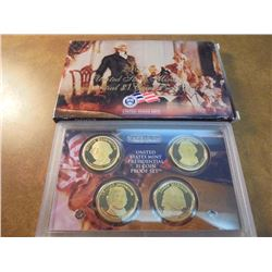 2007 US PRESIDENTIAL DOLLAR PROOF SET WITH BOX