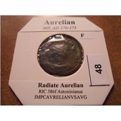 270-275 A.D. AURELIAN ANCIENT COIN (FINE)