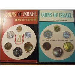 1967 & 1969 JERUSALEM SPECIMEN SETS ORIGINAL MINT PACKAGING