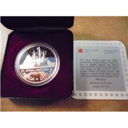 1997 CANADA DAVIS STRAIT SILVER DOLLAR PROOF .7487 OZ. ASW, ORIGINAL ROYAL CANADIAN MINT PACKAGING