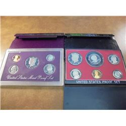1979 & 1990 US PROOF SETS (WITH BOXES)