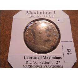 235-238 A.D. MAXIMINUS I ANCIENT COIN (FINE)