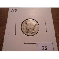 1921 MERCURY DIME KEY DATE