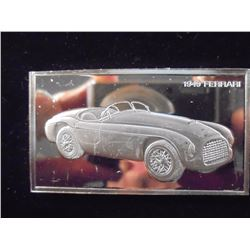 1000 GRAINS (OVER 2 OZ.) STERLING SILVER PF INGOT 1949 FERRARI