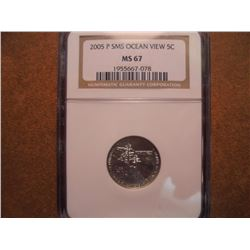 2005-P SMS OCEAN VIEW NICKEL NGC MS67