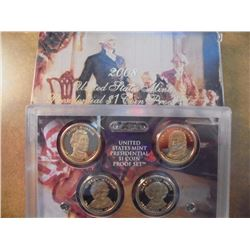 2008 US PRESIDENTIAL DOLLAR PROOF SET WITH BOX