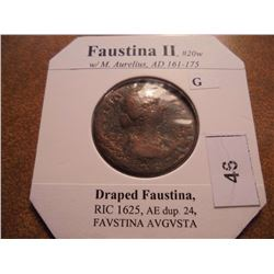 161-175 A.D. FAUSTINA II ANCIENT COIN