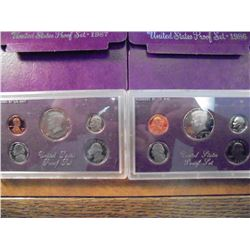1986 & 1987 US PROOF SETS (WITH BOXES)