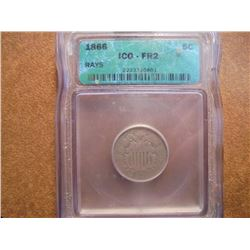 1866 SHIELD NICKEL ICG FR2