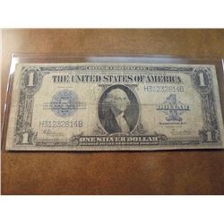 1923 LARGE SIZE $1 SILVER CERTIFICATE BLUE SEAL HORSE BLANKET