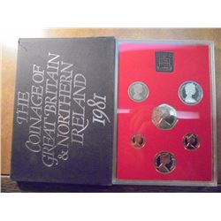 1981 GREAT BRITAIN AND NORTHERN IRELAND PROOF SET ORIGINAL ROYAL MINT PACKAGING