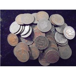 50 ASSORTED INDIAN HEAD CENTS