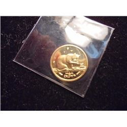 GOLD 1999  ISLE OF MAN 1/25 OZ. CROWN PROOF