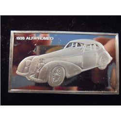 1000 GRAINS (OVER 2 OZ.) STERLING SILVER PF INGOT 1938 ALFA ROMEO