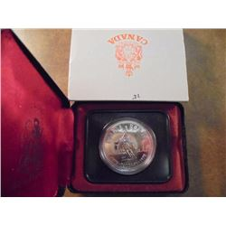 1975 CANADA CALGARY SILVER DOLLAR PROOF .3750 OZ. ASW, ORIGINAL ROYAL CANADIAN MINT PACKAGING