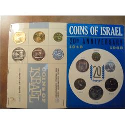 1965 (PF LIKE) & 1968 JERUSALEM SPECIMEN SETS ORIGINAL MINT PACKAGING