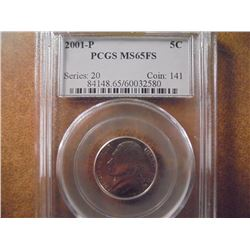 2001-P JEFFERSON NICKEL PCGS MS65FS