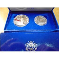 1986-S STATUE OF LIBERTY 2 COIN PROOF SET ORIGINAL US MINT PACKAGING