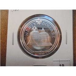1985 BRITISH VIRGIN ISLANDS $20 SILVER PROOF COIN