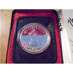 1978 CANADA XI GAMES SILVER DOLLAR PROOF .3750 OZ. ASW, ORIGINAL ROYAL CANADIAN MINT PACKAGING