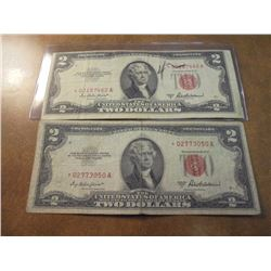 2-1953-A $2 UNITED STATES STAR NOTES RED SEALS