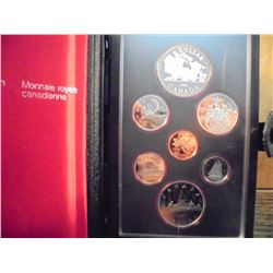 1981 CANADA DOUBLE DOLLAR PROOF SET LOCOMOTIVE ORIGINAL ROYAL CANADIAN MINT PACKAGING