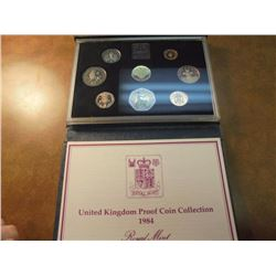 1984 UNITED KINGDOM PROOF COIN SET ORIGINAL MINT PACKAGING