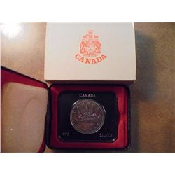 1972 CANADA SILVER DOLLAR (PF LIKE) TONED .3750 OZ. ASW, ORIGINAL ROYAL CANADIAN MINT PACKAGING