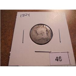 1824 CAPPED BUST DIME