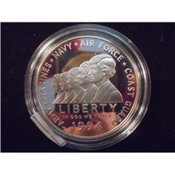 1994-P WOMEN IN THE MILITARY PROOF SILVER DOLLAR