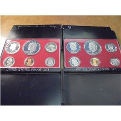 1974 & 1977 US PROOF SETS (WITH BOXES)