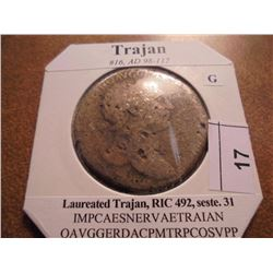 98-117 A.D. TRAJAN ANCIENT COIN