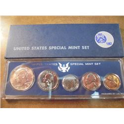 1967 US SPECIAL MINT SET WITH BOX 40% SILVER JOHN F. KENNEDY HALF DOLLAR
