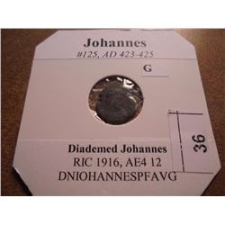 423-425 A.D. JOHANNES ANCIENT COIN