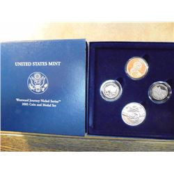 US MINT 2005 WESTWARD JOURNEY NICKEL COIN & MEDAL SET, ORIGINAL US MINT PACKAGING